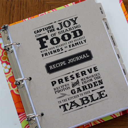 receipe journal
